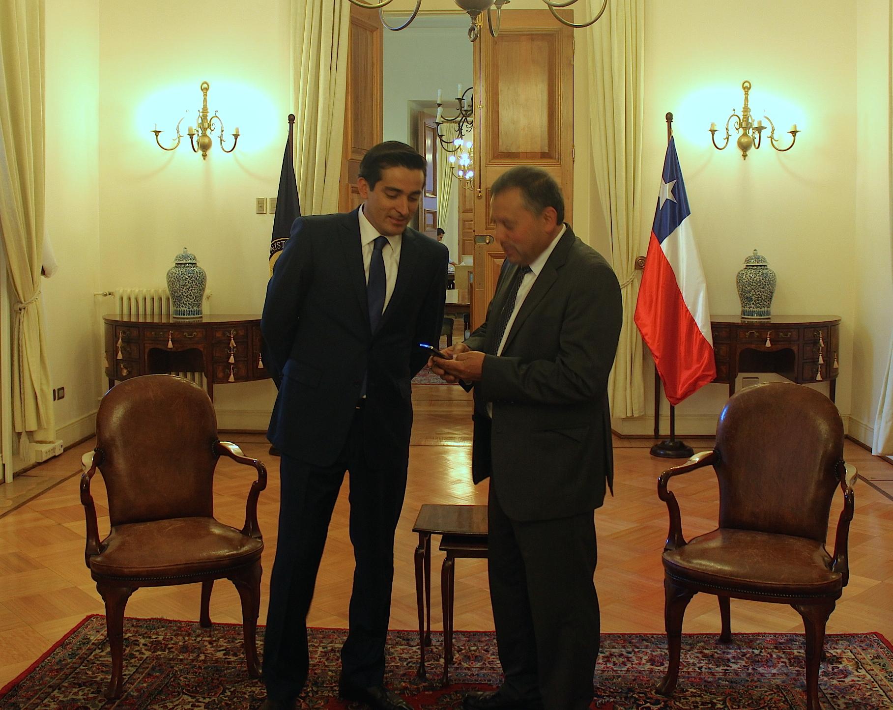 Ministro del interior anuncia visita presidencial a la for Escuchas ministro del interior